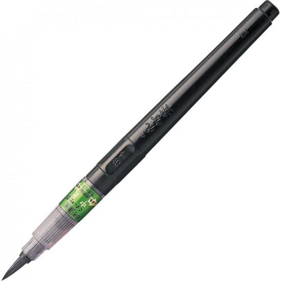 Kuretake CHU-BUTO ecsettoll No. 25, vastag hegy, fekete tinta, cserélhető tustároló tollszár (DK150-25B)