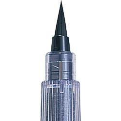Kuretake CHUJU ecsettoll No. 22, közepes hegy, fekete tinta, cserélhető tustároló tollszár (DM150-22B)