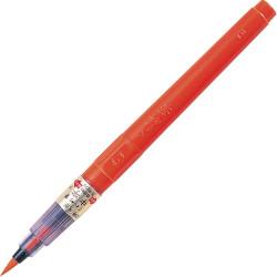 Kuretake ecsettoll No. 23, narancsszínű tinta, cserélhető tustároló szárral (DN151-23B)