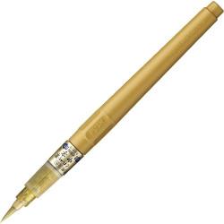 "Kuretake Fude Pen ""Chuji"" Gold No. 60 (DO150-60S), aranytintás ecsettoll, igazi ecset hegy"
