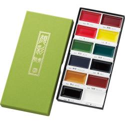 Kuretake Gansai Tambi japán vízfesték, 12 színű készlet (MC20/12V)