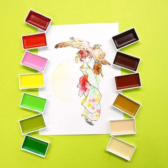 Kuretake Gansai Tambi japán vízfesték, 48 színű készlet (MC20/48V)