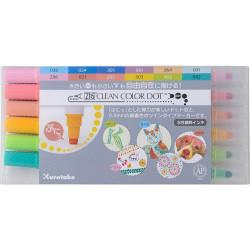 Kuretake ZIG Clean Color DOT, 12 színű készlet (TC-6100/12V)