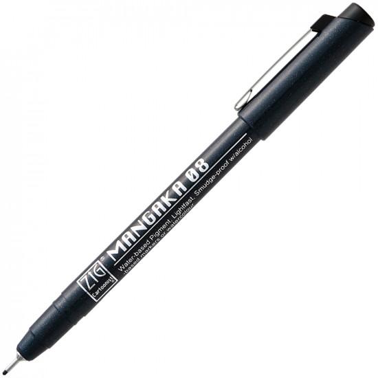 ZIG Mangaka 0.8mm tűfilc (CNM-08-010), fekete